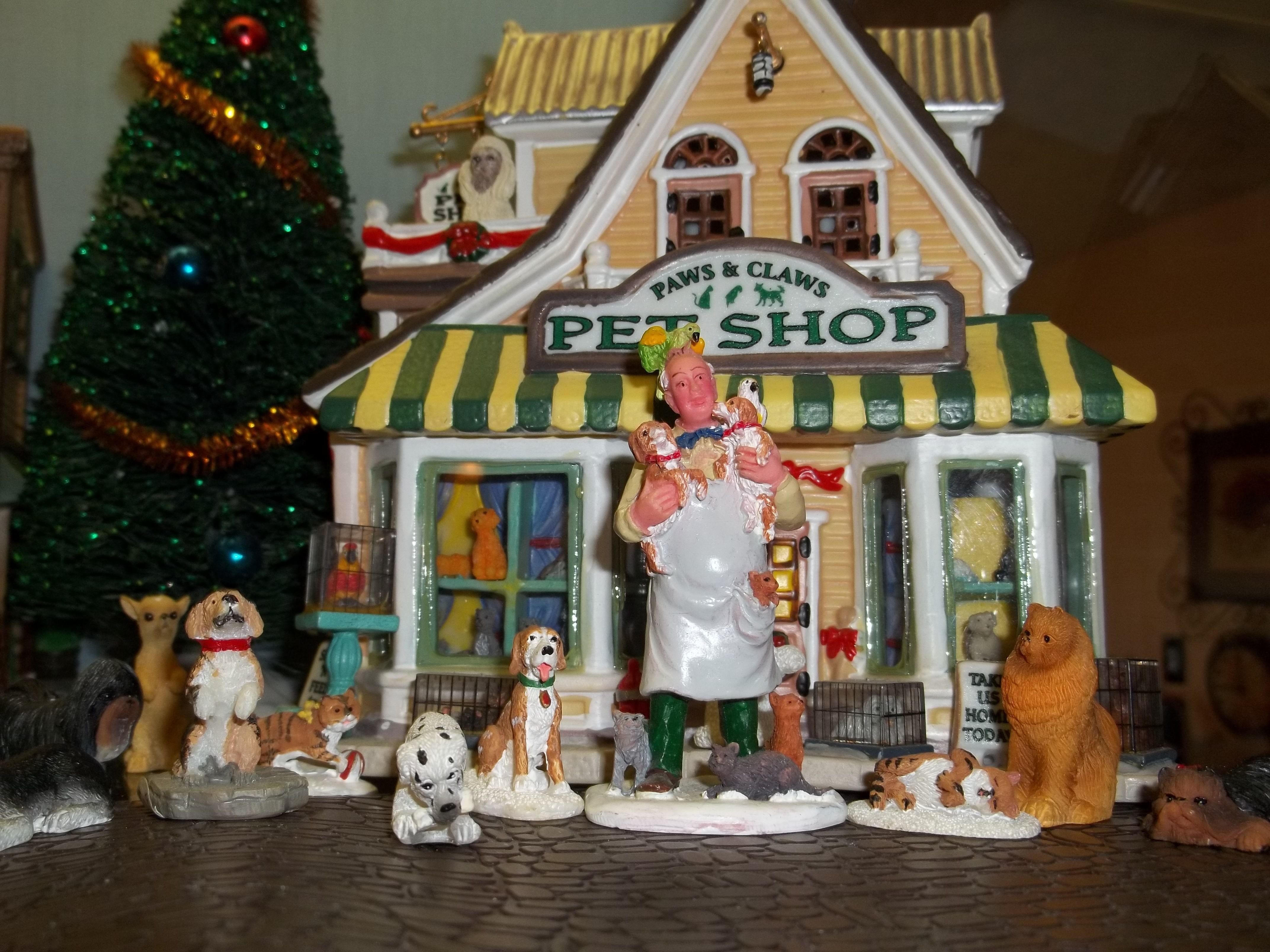 christmas village pet shop dianne's favorite