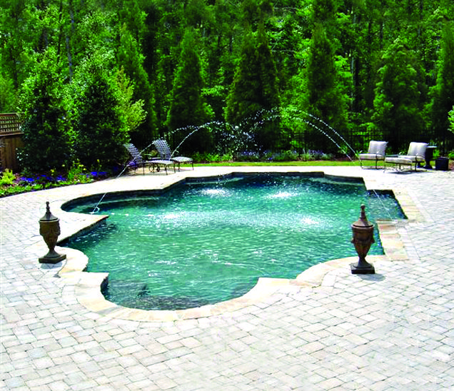Roman Pool Built By Blue Haven Pools Charlotte
