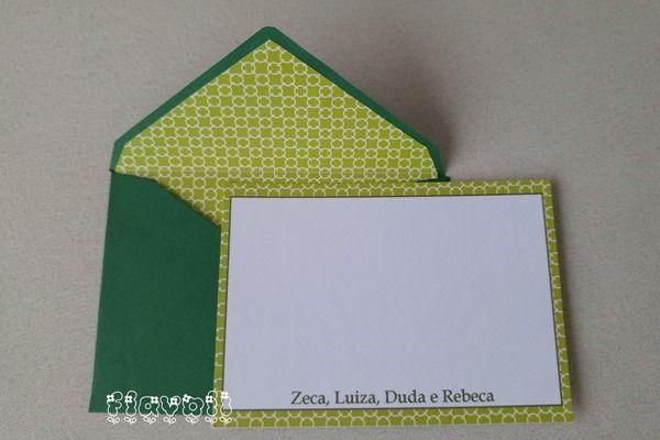 Cartão simples com envelope forrado – Chains verde  :: flavoli.net - Papelaria Personalizada :: Contato: (21) 98-836-0113 vendas@flavoli.net