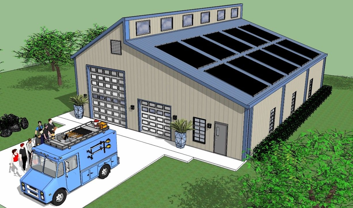 The wide expansive roof is optimal to solar