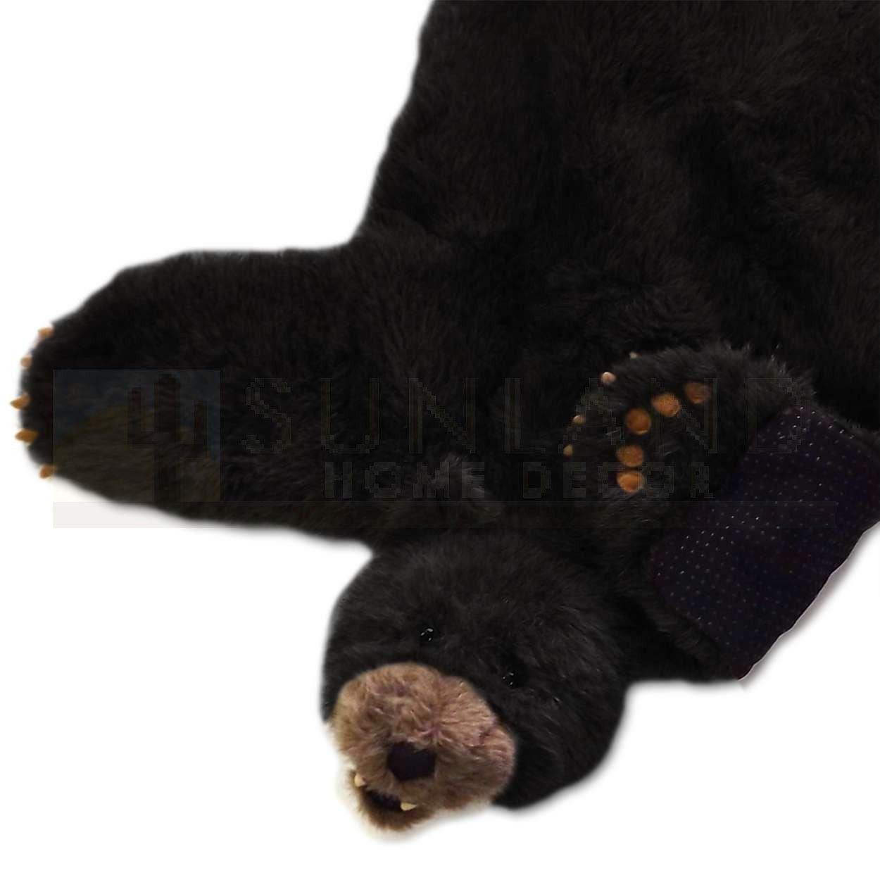 Sunland Home Decor Sbr201 Plush Animal Rug 36in Black Bear