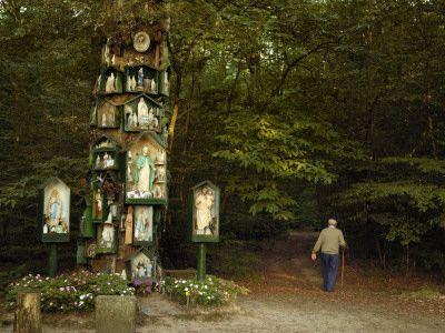 A Roadside Shrine with Catholic Saints on a Druidic Sacred Oak Tree