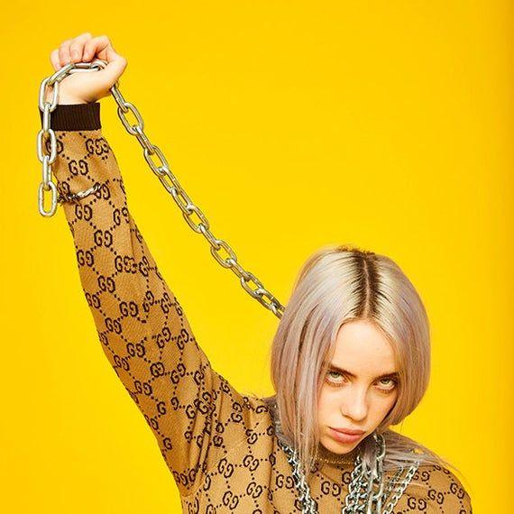 New Billie Eilish Music Singer Star Fashion T-362 Silk Fabric Poster