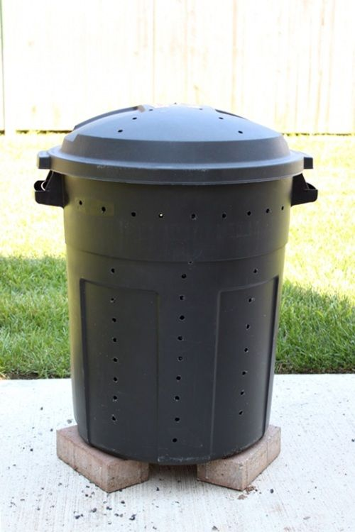 Make Your Own Compost Bin Out Of A Trash Can