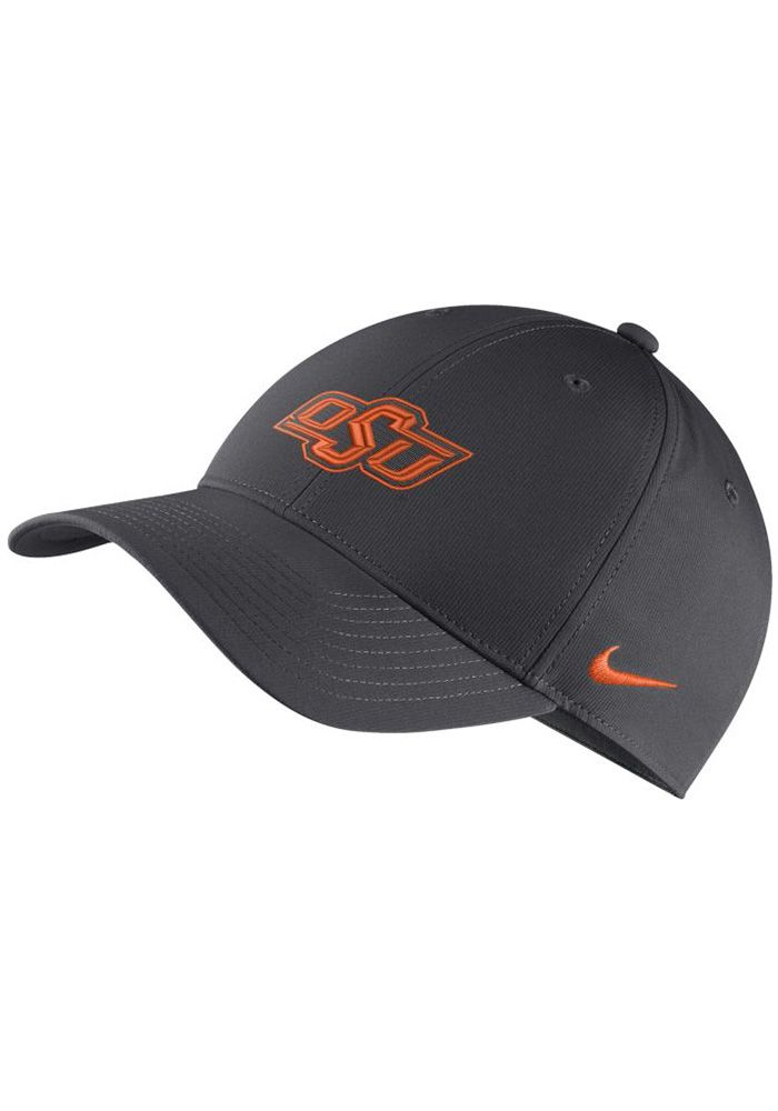 1bd6b28d Nike Oklahoma State Cowboys Mens Grey Dri-Fit L91 Adjustable Hat, Grey,  POLYESTER, Size ADJ