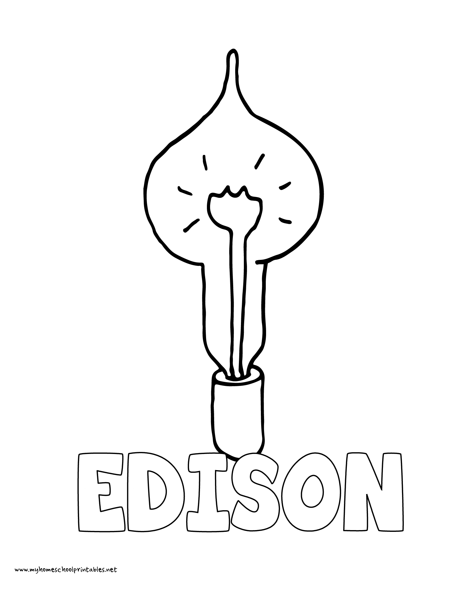History Coloring Pages – Volume 4 | Edison inventions ...
