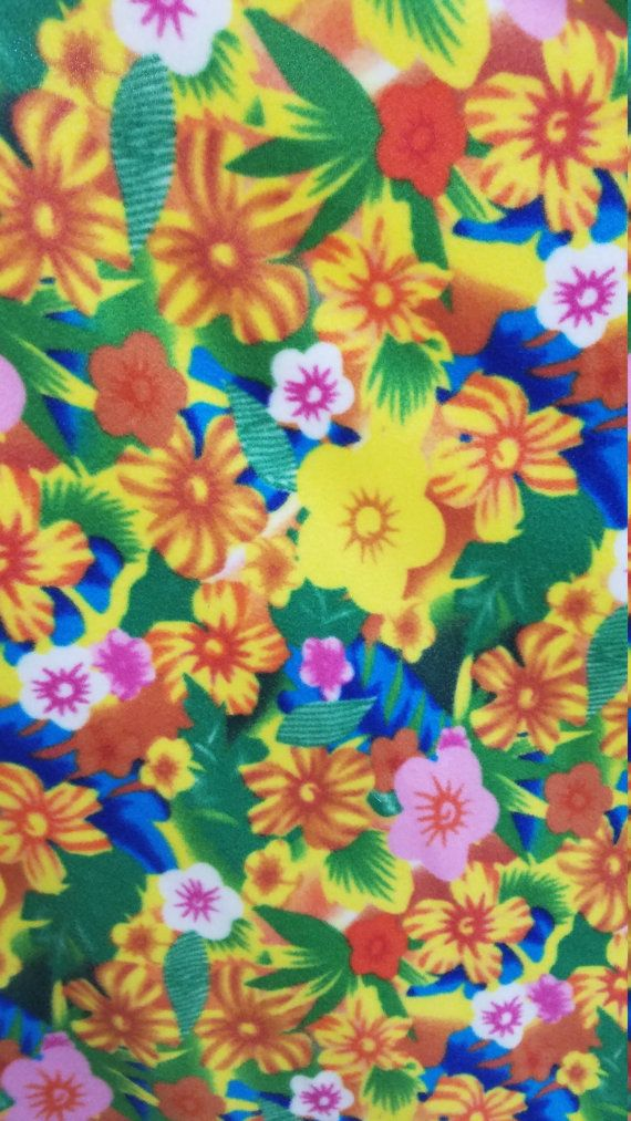 Multi Color Floral Printed Polar Fleece Fabric By by SOFIRETAIL