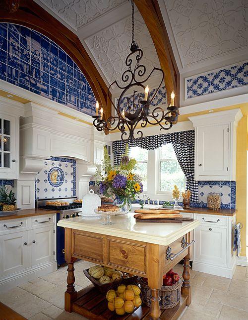 Blue Tile Envy French Country Kitchen Country Kitchen Kitchen Decor