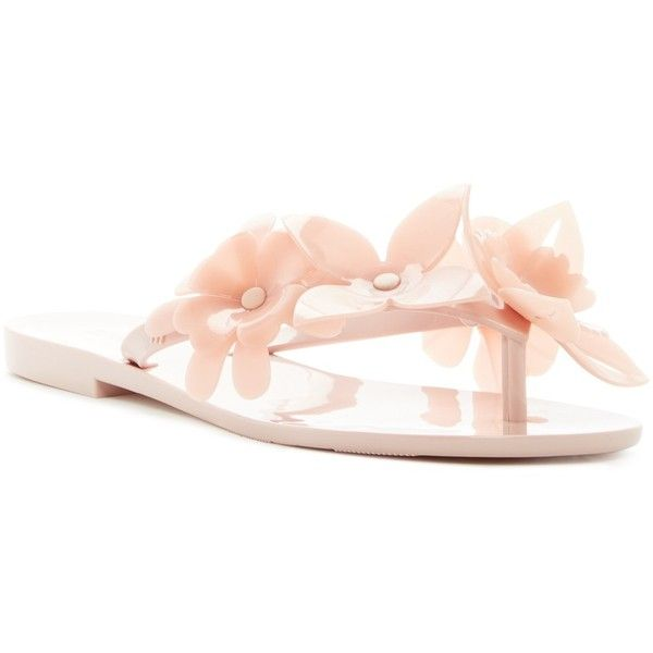 MELISSA FOOTWEAR Garden VI Jelly Flip Flop (140 BRL) ❤ liked on Polyvore  featuring