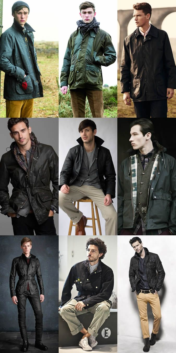 Men's Vintage Clothing: The Wax Jacket Lookbook Inspiration ...