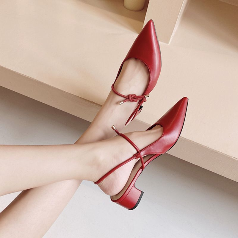 Chiko Eustoquia Pointed Toe Block Heels Pumps