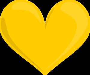 Glass Hearts Yellow Heart Colorful Heart Love Heart Emoji