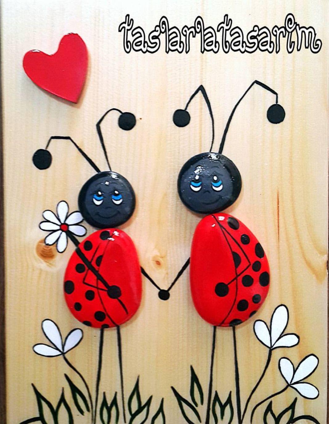 lady bug rocks cute..