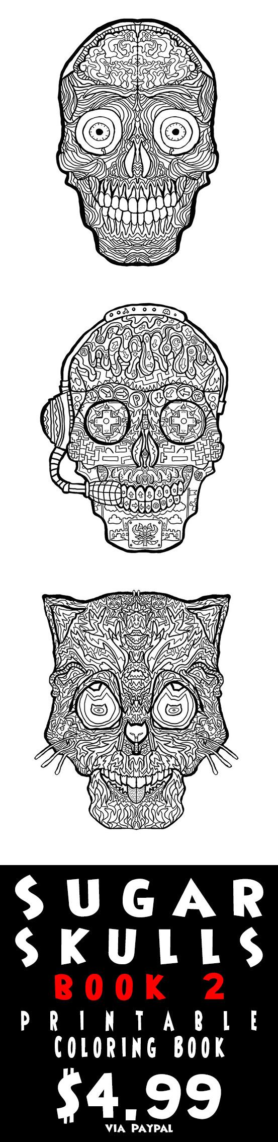 Halloween art therapy coloring pages - Print Your Own Complciated Coloring Sugar Skull Coloring Pages Great For Halloween Decorations