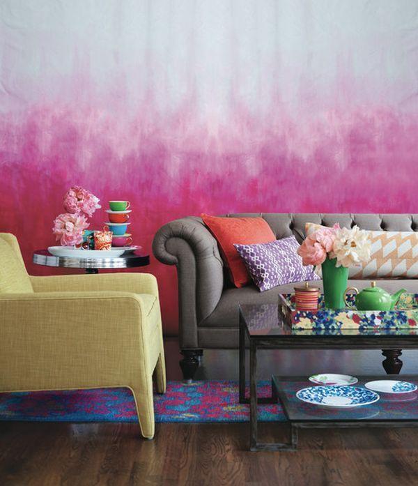 Tie Dye Walls Couleurs De Peinture Pour Salon Decoration