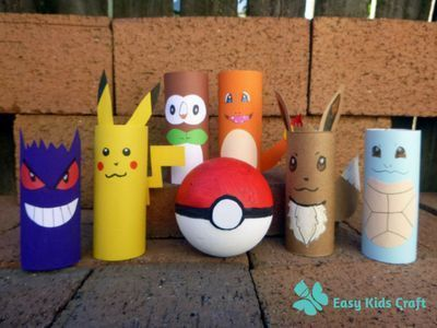 Pokemon Toilet Paper Roll Craft Check Out These That Your Kids Can Make To Play Go