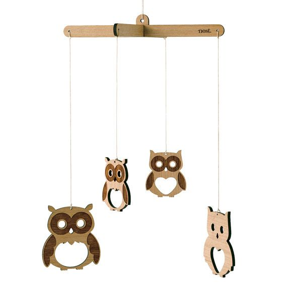 Owl wooden mobile nursery kids decor by nestaccessories on etsy buy gifts online from hard to find gifts australia hard to find homewares online gifts for him gifts for her gifts for kids unique gift ideas negle Choice Image