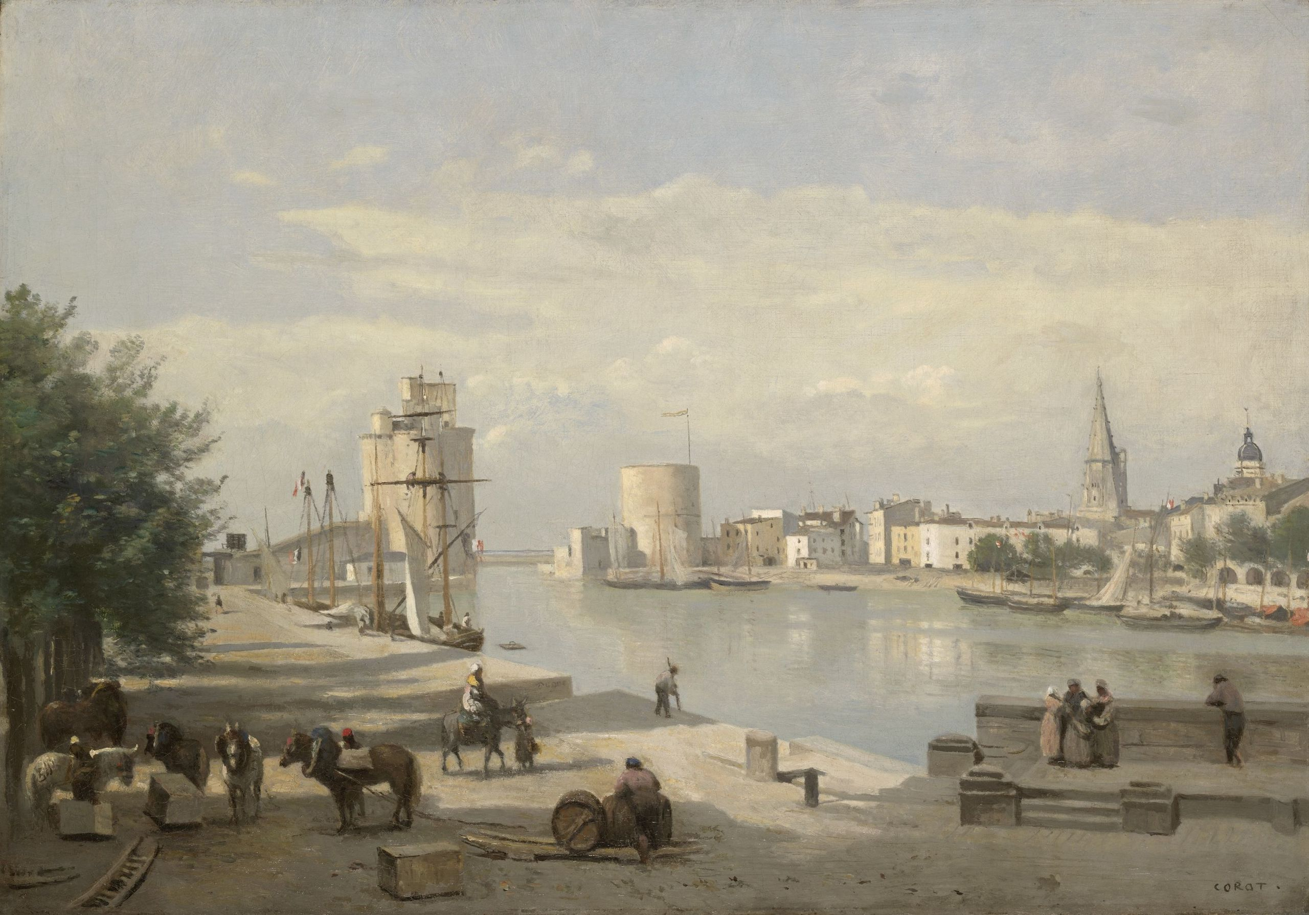 The Harbor of La Rochelle by Jean-Baptiste-Camille Corot.jpeg