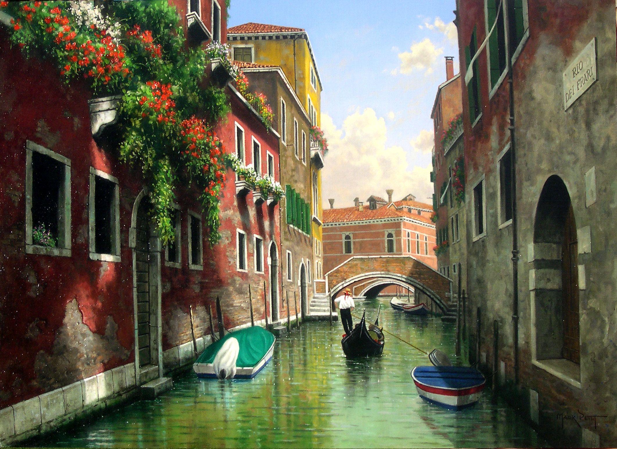 Обои канал, венеция, лодки, дома. Города foto 16