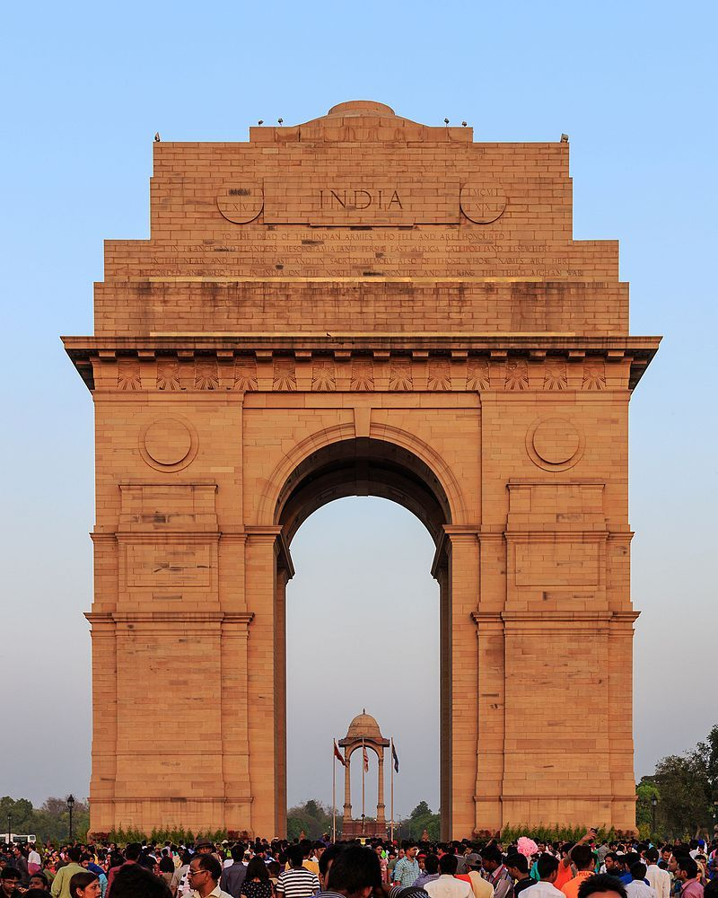 India Gate in New Delhi 032016 List of tourist