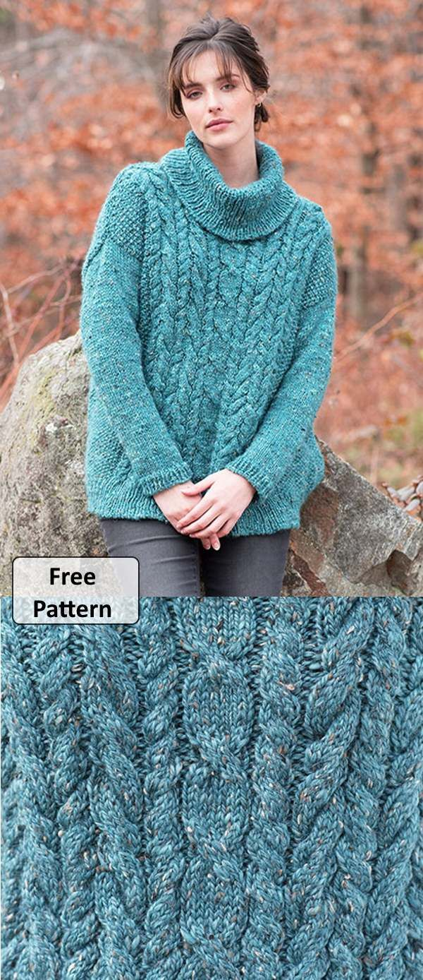 Women's Cable Knit Sweater Patterns Free | Sweater ...