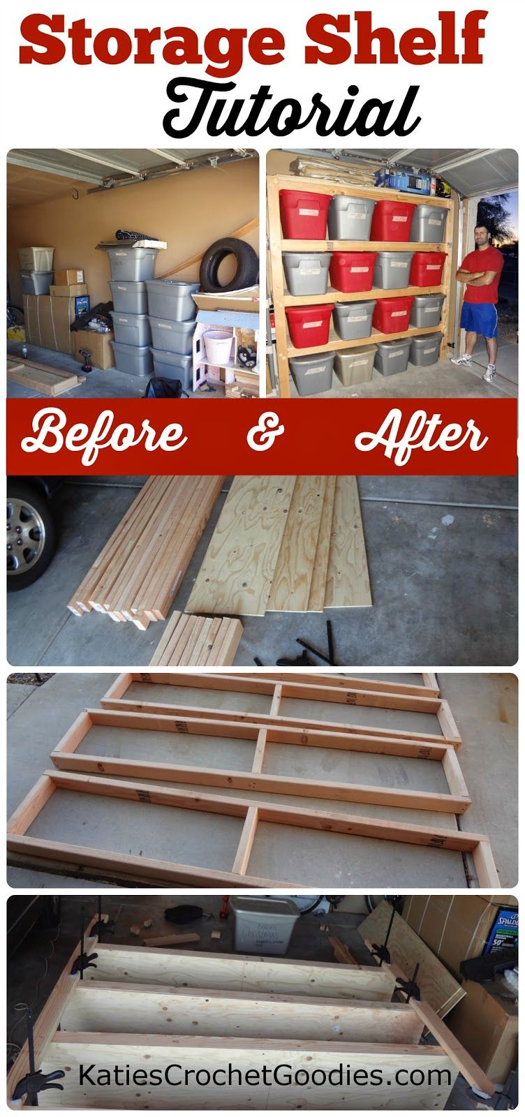 Build shelves in garage for seasonal totes - much easier to access ...