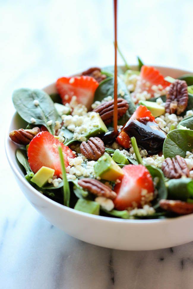 Strawberry  Spinach Quinoa Salad