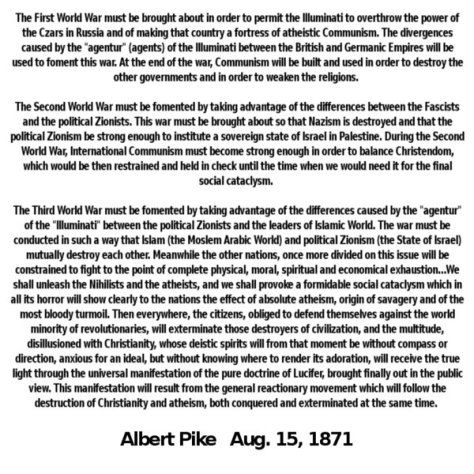 ALBERT PIKE LETTER TO MAZZINI   Are You Paying Attention   World