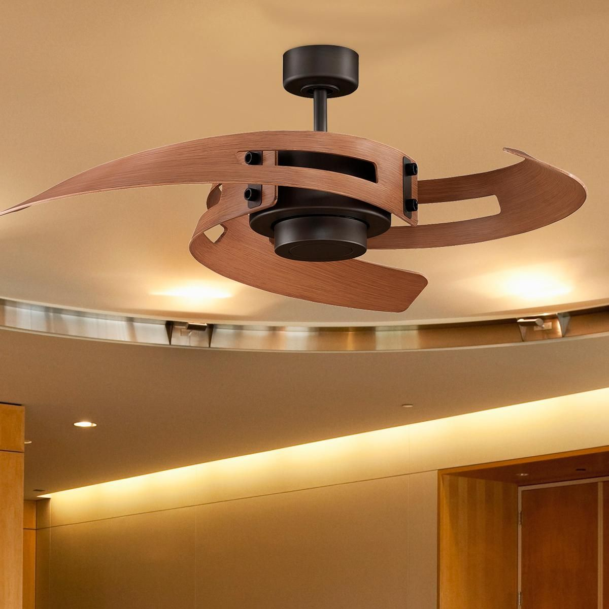 Curved Blades Ceiling Fan