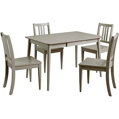 George Home Sadie Dining Table & 4 Chairs - Grey | Dining Tables ...