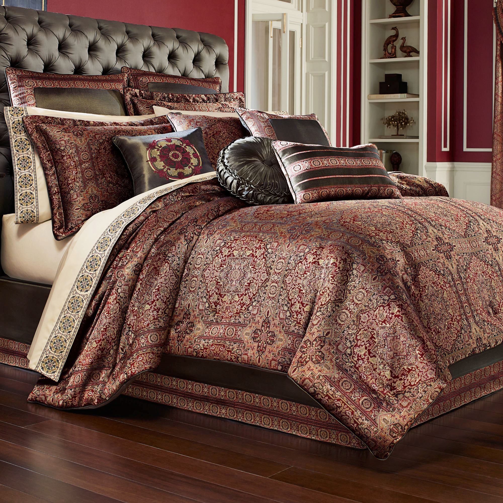 Bridgeport Red Comforter Set Burgundy Luxurybeddingred Comforter Sets Luxury Comforter Sets Burgundy Bedding