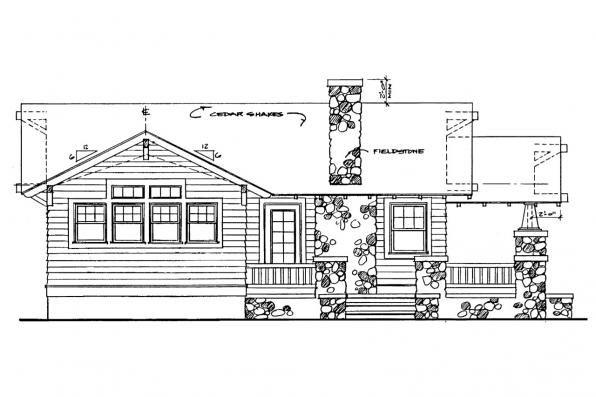 Cottage House Plan Pinewald 41 014 Left Elevation House Plans Craftsman House Craftsman House Plans