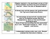 Mesopotamian Vocabulary Graphic Organizer - Bill Burton