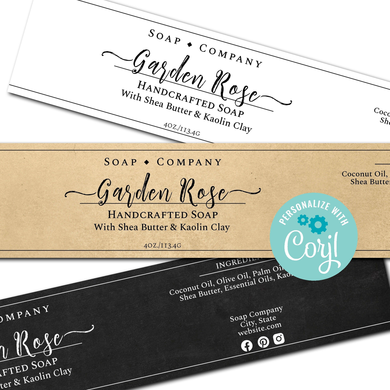 Soap Labels Simply Natural Editable Soap Template Etsy In 2021 Soap Labels Soap Labels Template Label Templates