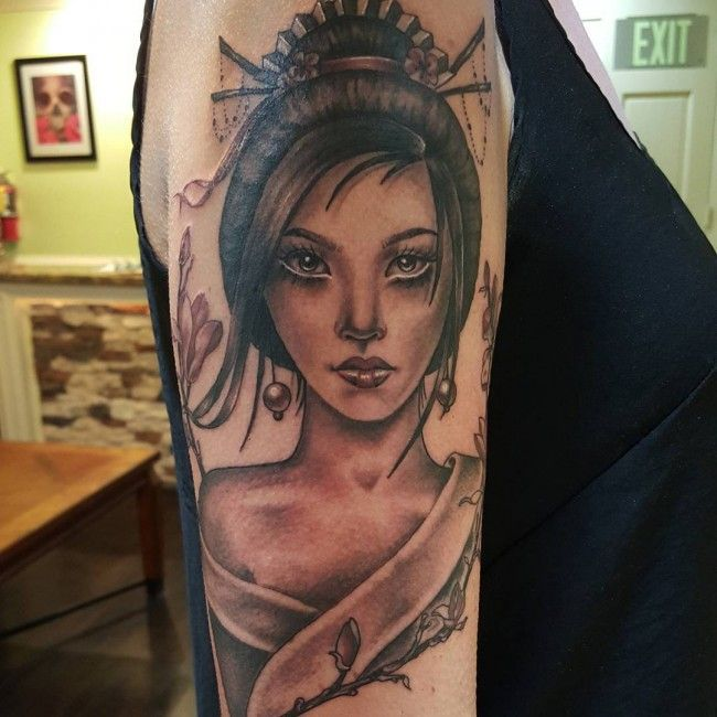 150 Japanese Geisha Tattoos Meanings Ultimate Guide 2019: Pin By Erik J On Yes Please