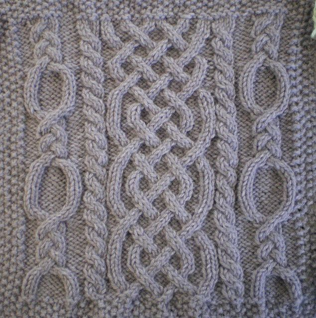 November Aran Afghan Square (Woolen Collectibles) pattern by Marin ...