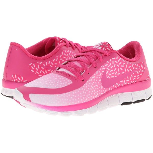 45e39a4b2413e Nike Free 5.0 V4 Womens Shoes, Pink (70) ❤ liked on Polyvore featuring ...