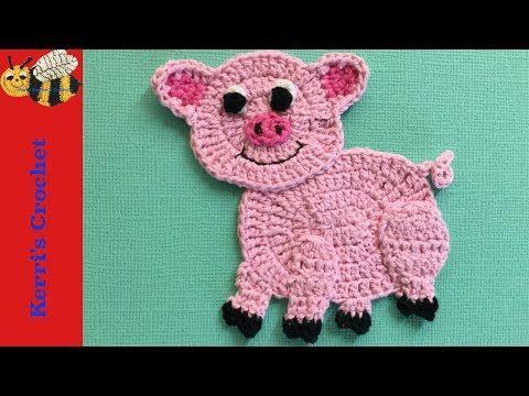 Crochet Applique Tutorials - Crochet Pig Tutorial - YouTube ...