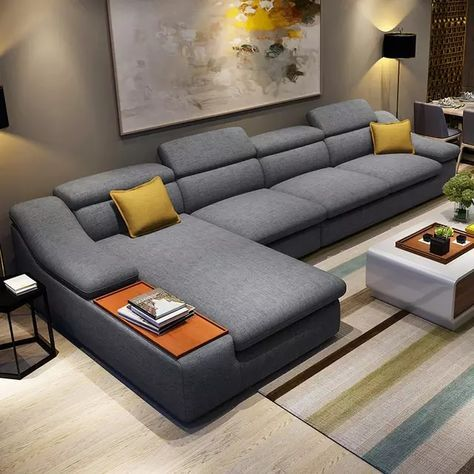 Photo of US $ 579.0 | L-shaped modern living room furniture corner fabric sectional sofa set design sofas for living room with chaise longue ottoman-in Living room sofas from Furniture on AliExpress
