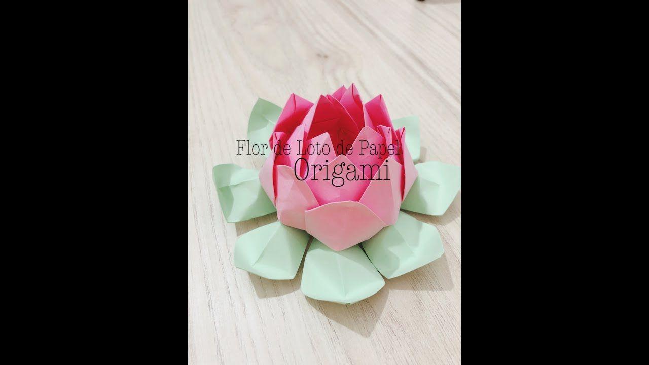 Cómo Hacer Flor De Loto De Papel Origami Diy Loto De Papel Flor De Loto Origami Origami Diy
