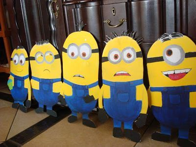 Cut Out Minions For Birthday Party Son Spark Labs Pinterest