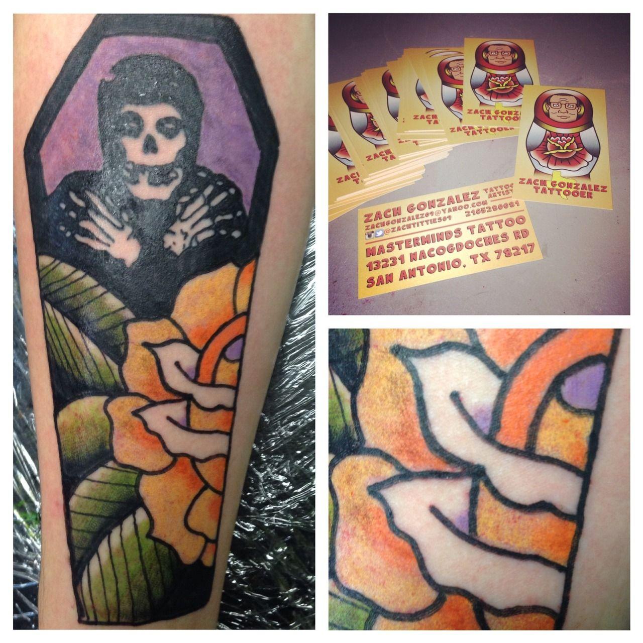 By zach gonzalez at masterminds tattoo in san antonio tx