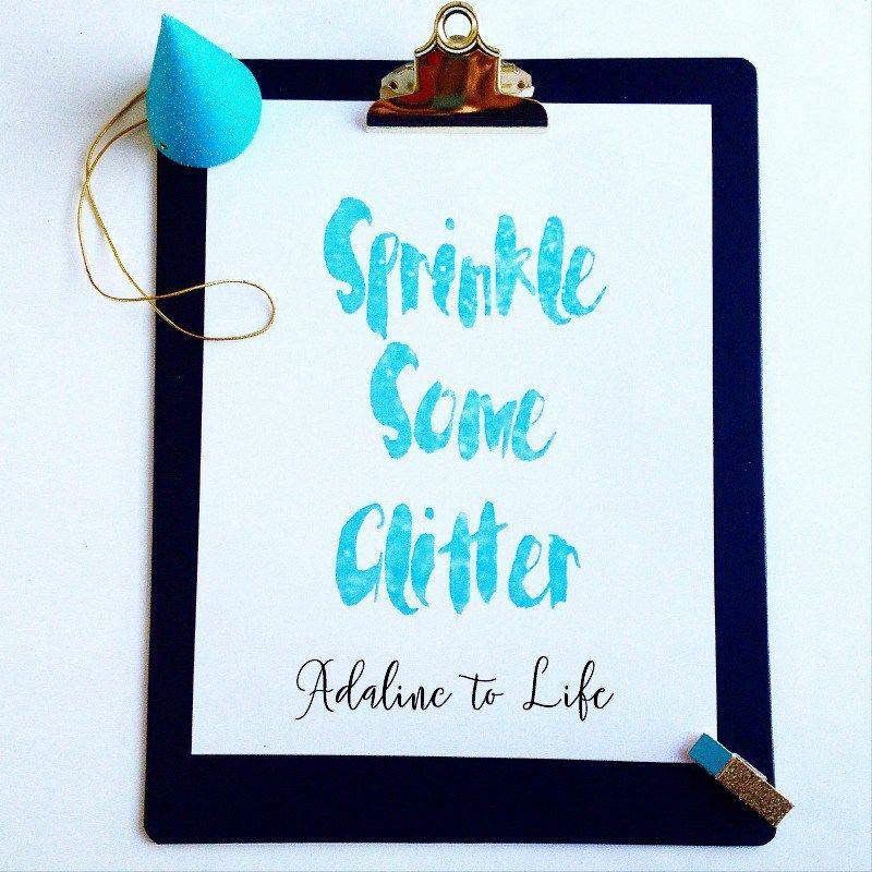 Create Glitter Text Printable Using PicMonkey