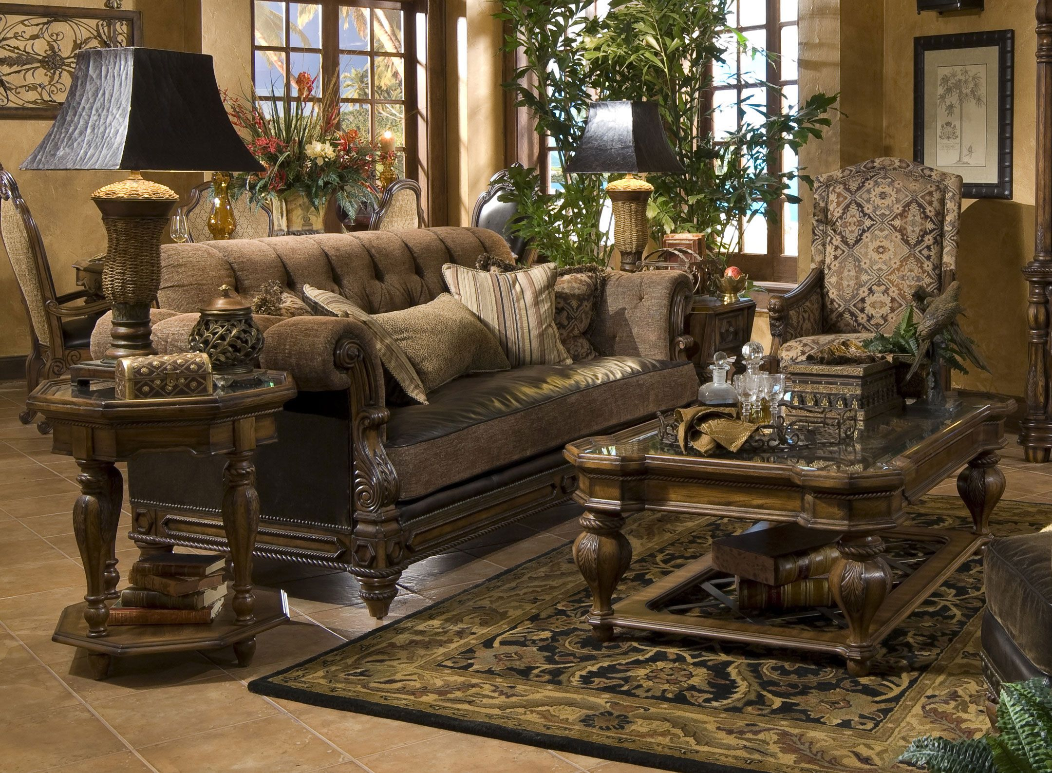 Image Detail For The Aico Michael Amini Signature Series Furniture Collections Vipfurniture Eu Tuscan Living Rooms Tuscany Decor Mediterranean Home Decor