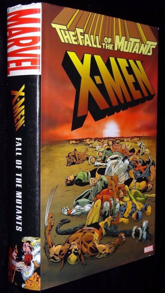 Marvel Comics The Fall Of The Mutants X Men Hardcover Graphic Novel New Book X Men Mutant Hardcover