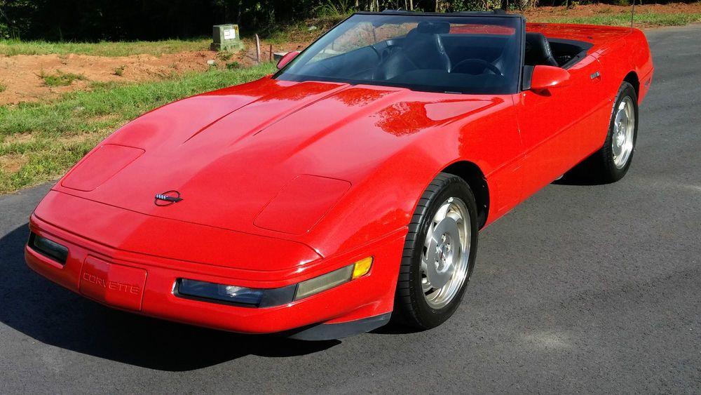 1996 Chevrolet Corvette Red Convertible