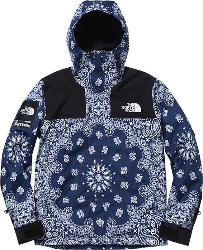 Supreme x north face blue bandana jacket north faces pinterest supreme x north face blue bandana jacket gumiabroncs Images