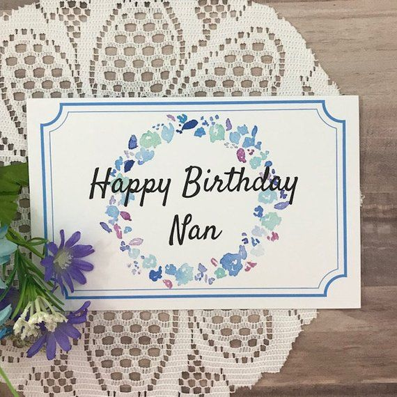 Printable Birthday Card For Nan