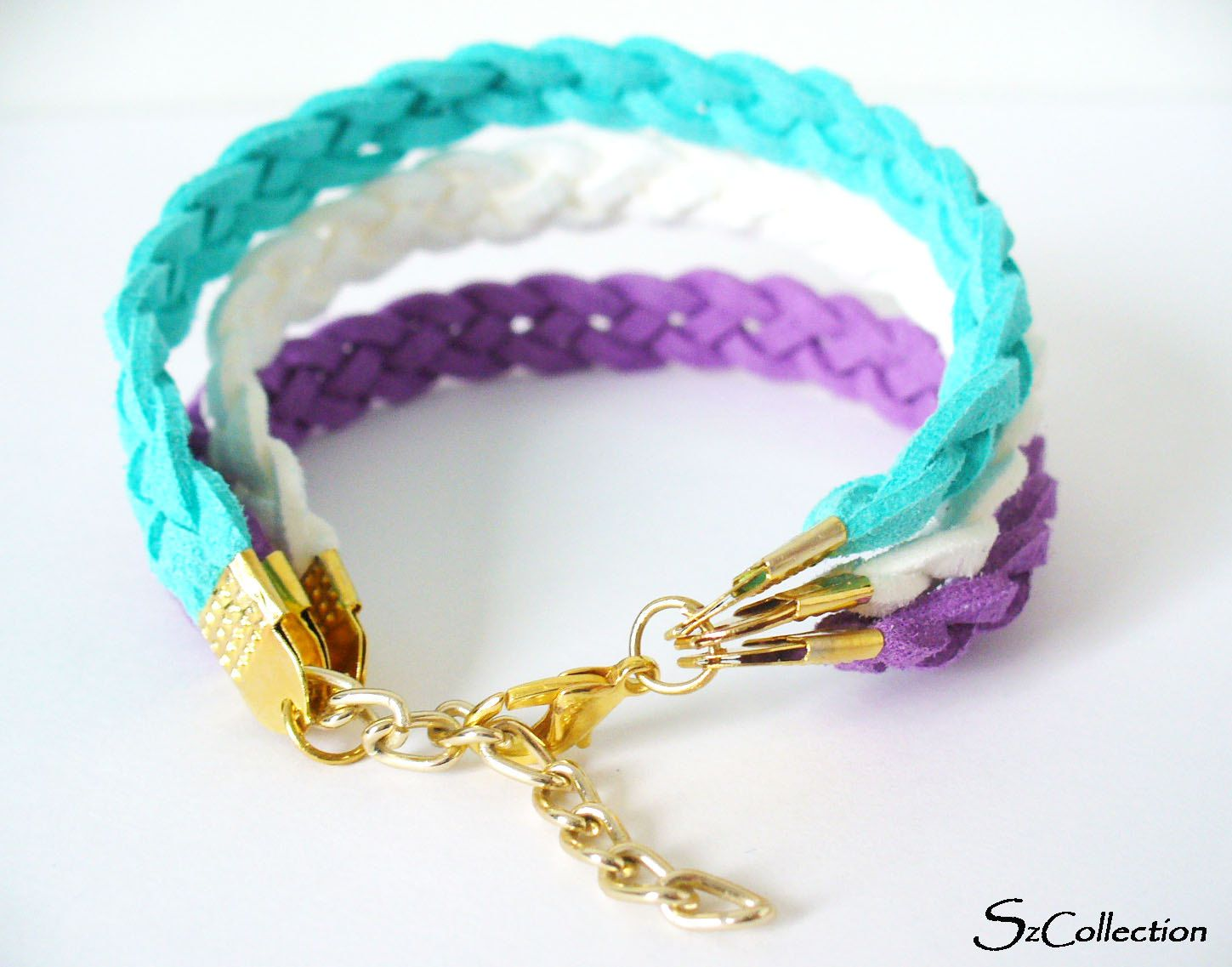 suede cord bracelet wrap bracelet three colors handmade