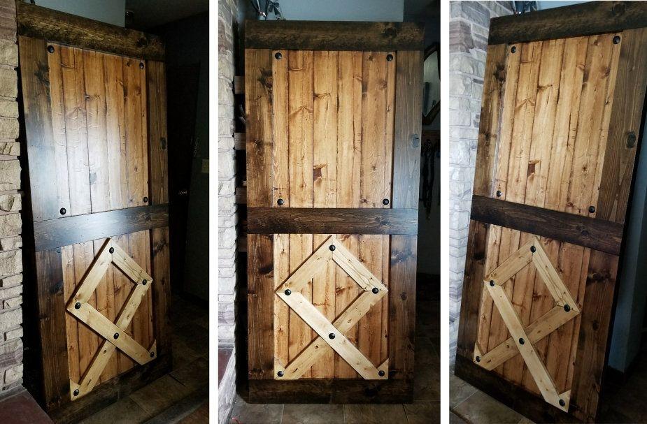 Custom Rune Sliding Barn Door With Hardware Options Etsy Wood Doors Interior Barn Door Designs Modern Sliding Barn Door